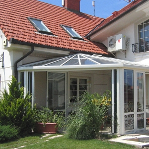 Bi-fold doors installed in a conservatory