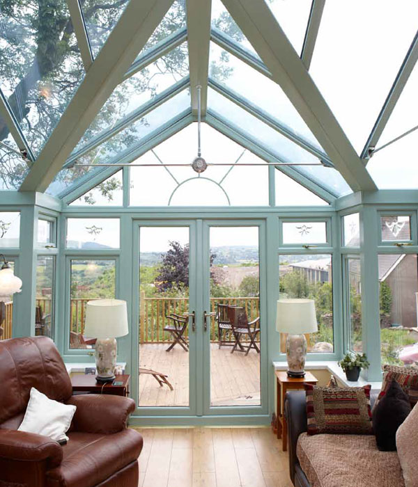 Coloured conservatory interior