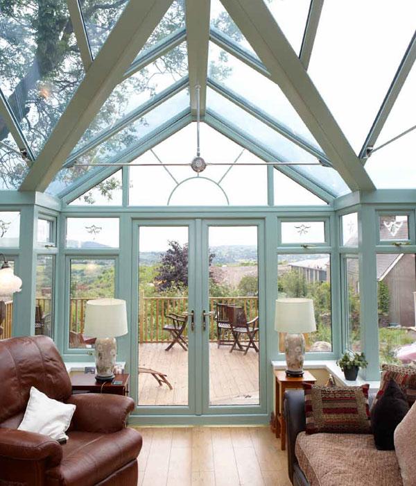 Interior of an atrium style conservatory