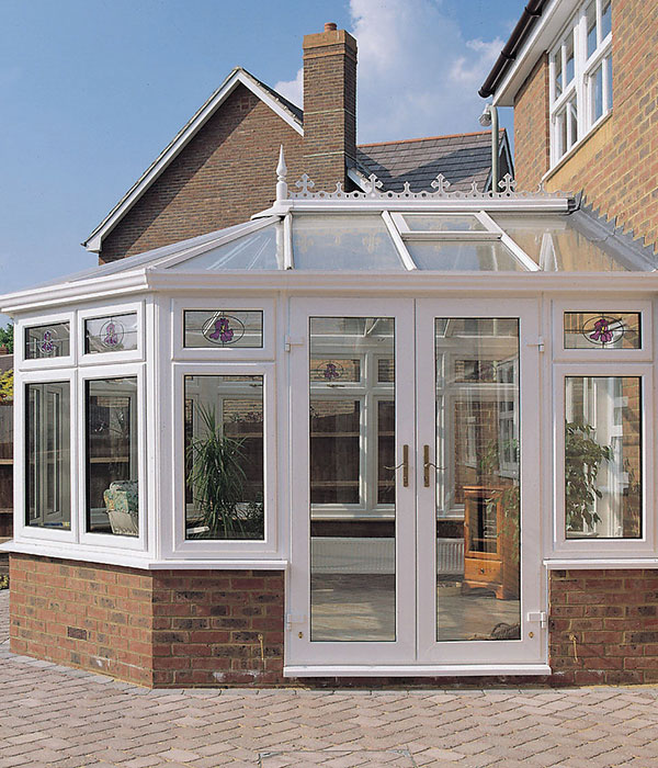 New white uPVC conservatory