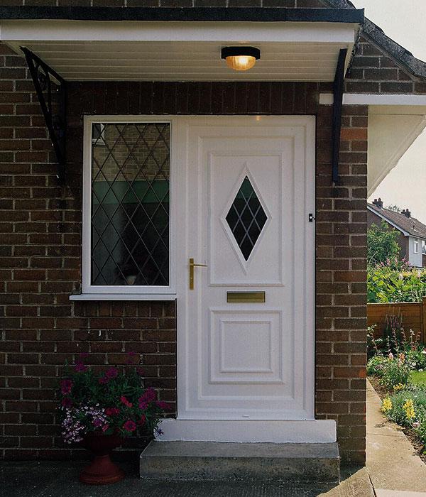 White PVC door