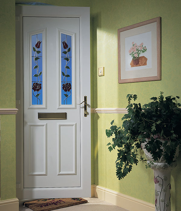 uPVC entrance door in a hallway