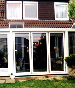 Closed bifold doors