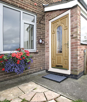 Woodgrain composite door