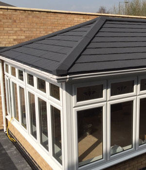 Tiled roof and roof line