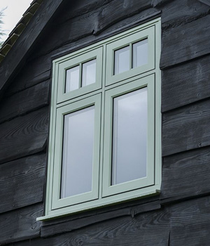 Green sash window