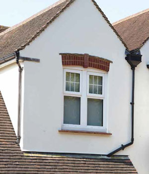 White Rehau casement windows