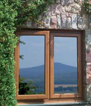 Rehau woodgrain casement windows