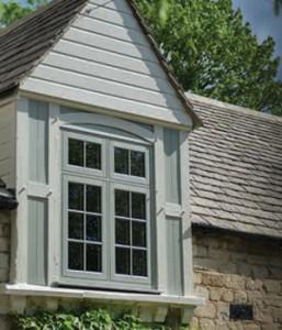 Coloured sash window