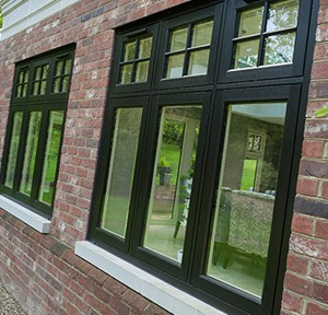 Black sash window